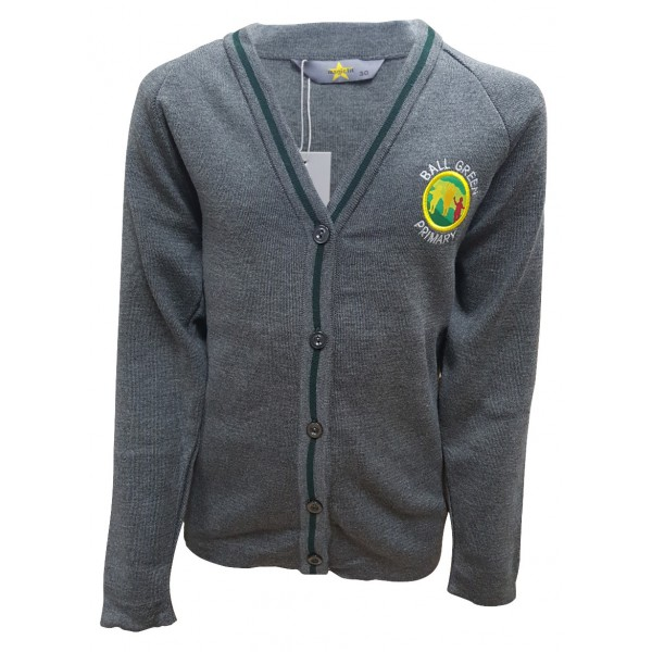 Ball Green Primary School Cardigan - With Personalised Initials