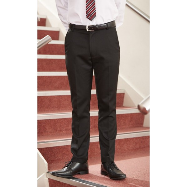 Boys Slim Cut Black Trousers