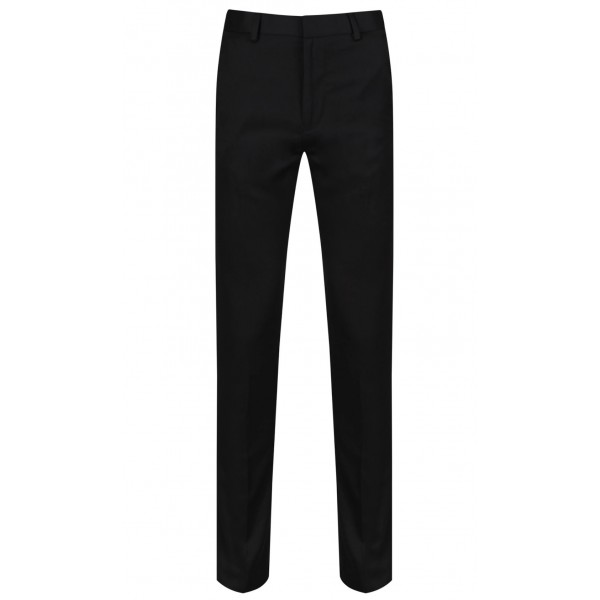 Boys Senior Black Slimfit Trousers