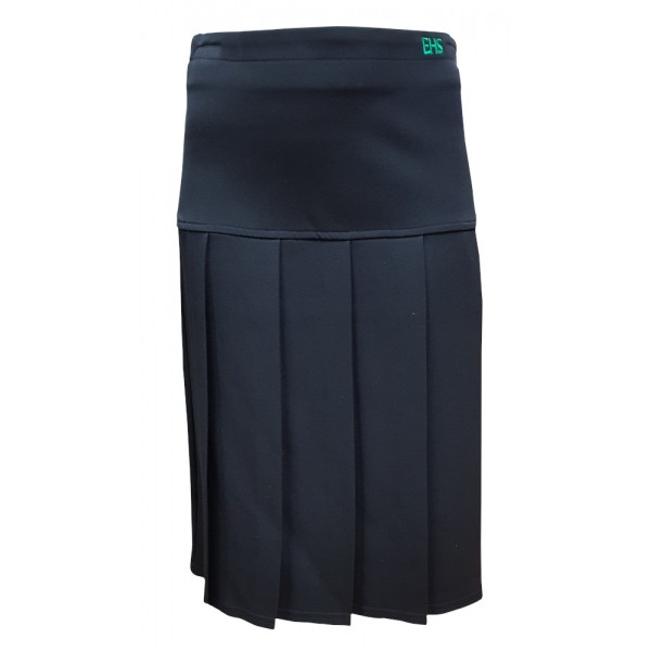 Endon High Black Charleston Pleated Skirt