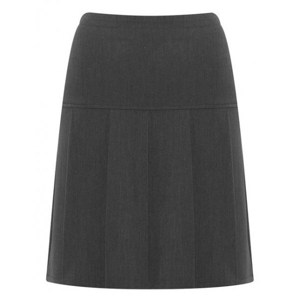 Girls Grey Pleated Skirt