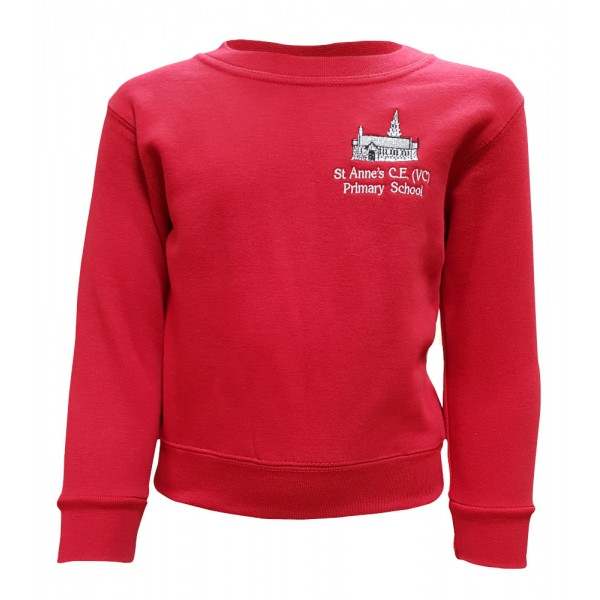 St Anne's Primary Crew Neck Sweatshirt