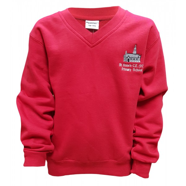 St Anne's Primary V-Neck Sweatshirt